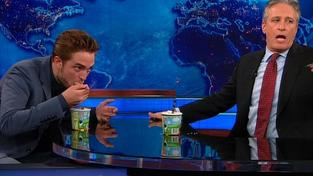 Robert Pattinson a Jon Stewart