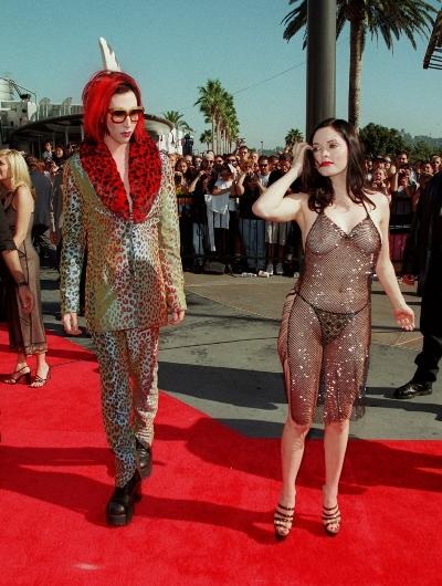 Rose McGowan a Marylin Manson v roce 1988