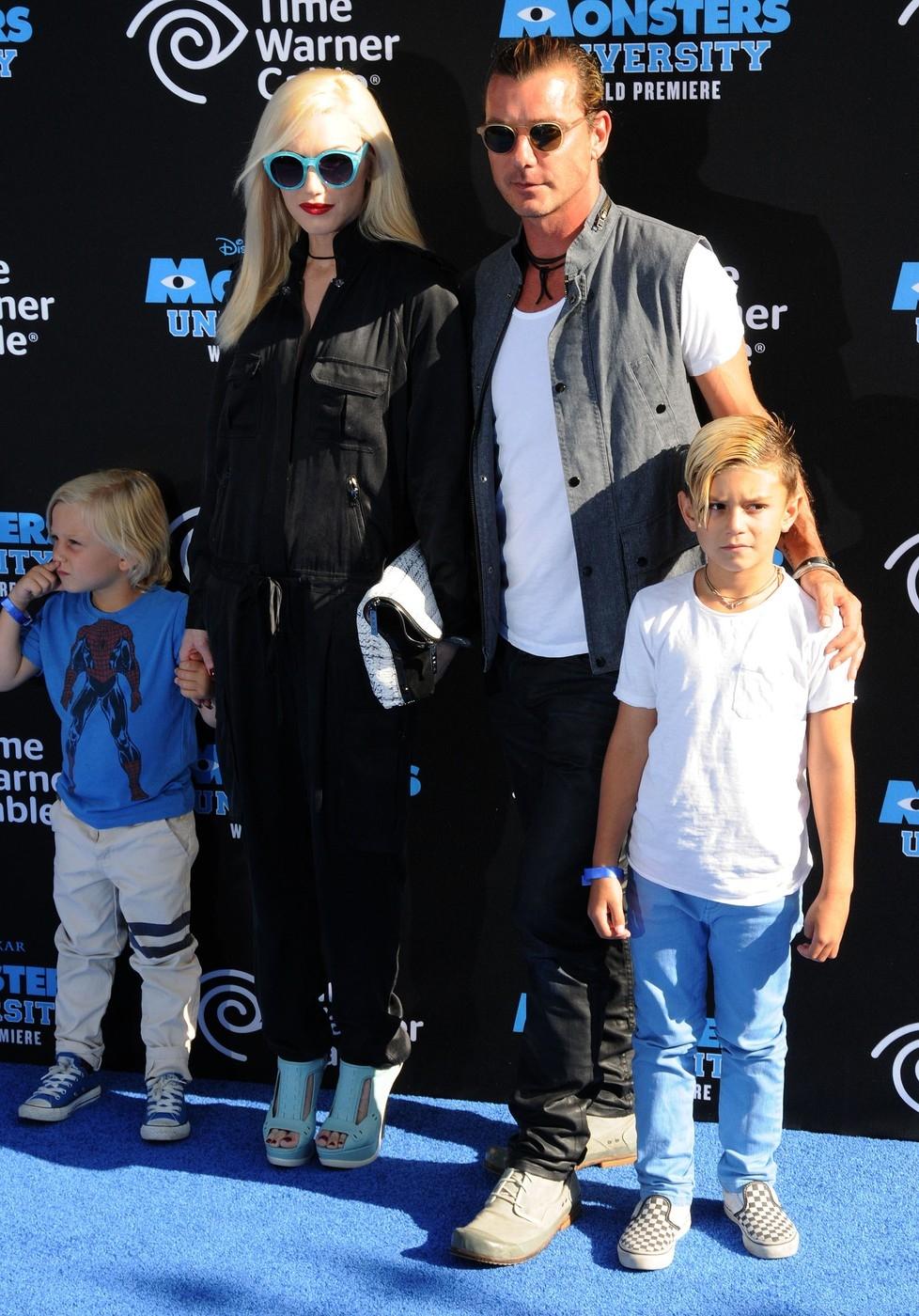 Gwen Stefani s rodinou