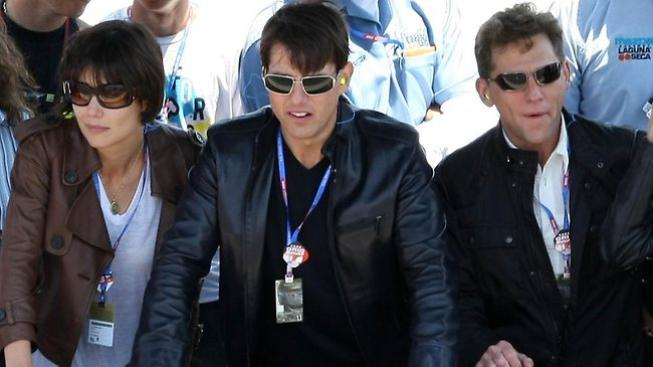 Tom Cruise, Katie Holmes a David Miscavige
