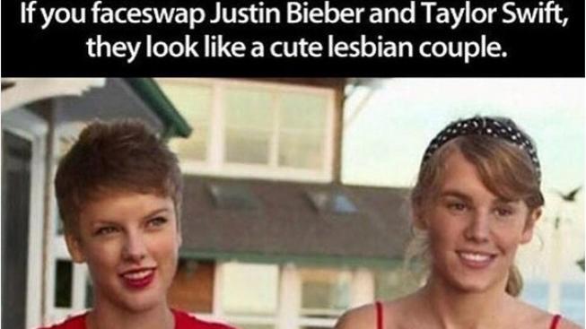 Justin Bieber a Taylor Swift fotomontaz