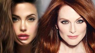 Julianne Moore a Angelina Jolie