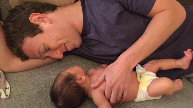 Mark Zuckerberg se svojí dcerou