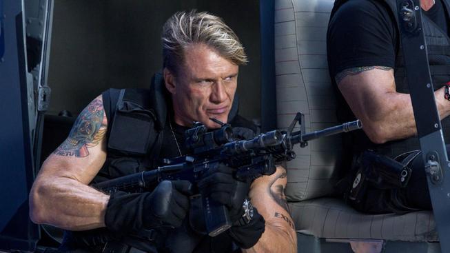 Dolph Lungren ve filmu Expendables: Postradatelní 3