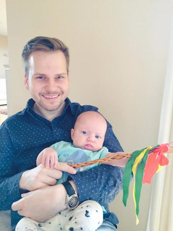 Martin Chodúr se synem
