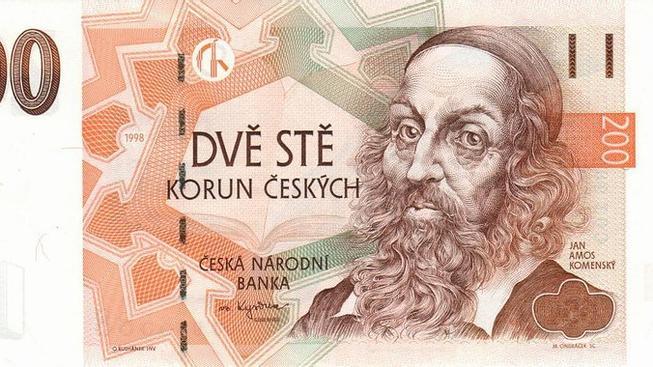 Jan Amos Komenský na 200kč bankovce