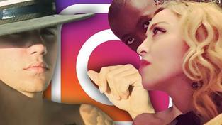 Zmatky kolem Bieberova instagramového účtu a narozeninová oslava Madonny