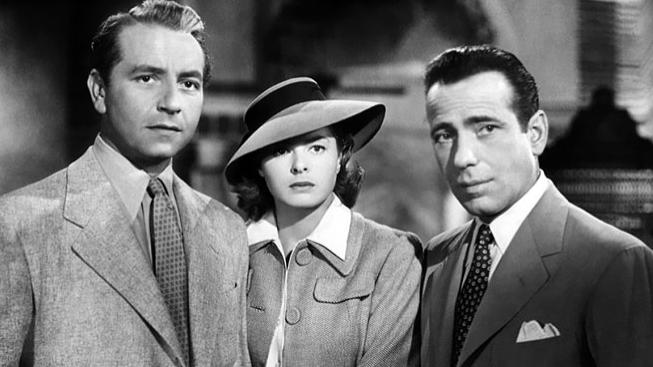 Paul Henreid, Ingrid Bergman, Humphrey Bogart ve filmu Casablanca