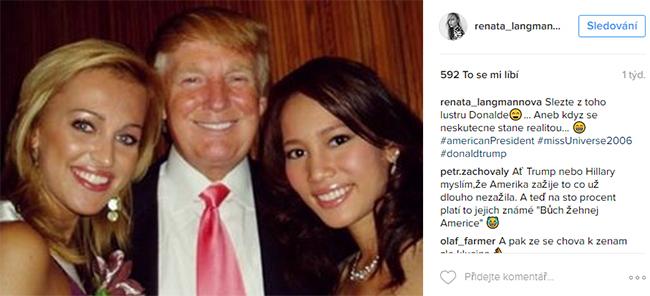 Renata Langmannová a Donald Trump