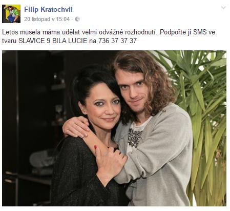 Lucie Bílá a Filip Kratochvíl