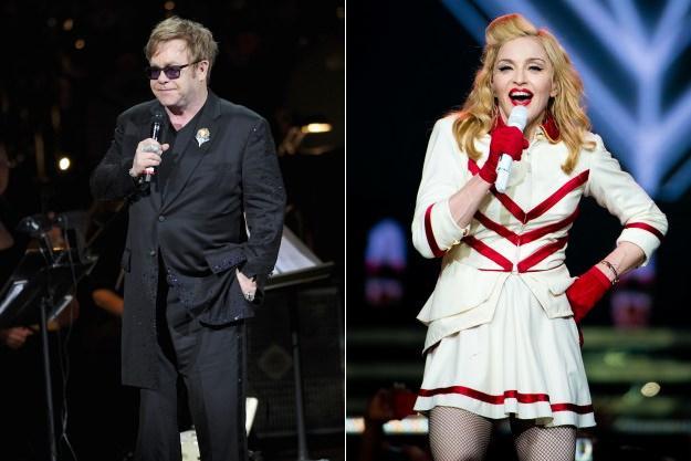 Elton John a Madonna