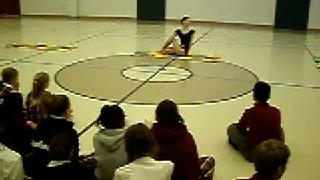 Alisa Matthews (International Yoga Champion) at the St. Joseph's School in Dallas, TX
