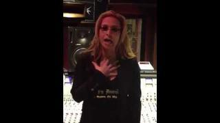 Anastacia in the studio