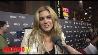 ASHLEY ROBERTS Interview at HARD ROCK CAFE Hollywood Opening