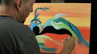 Bird Monster by RAEART crazy speed PAINTING ART time lapse