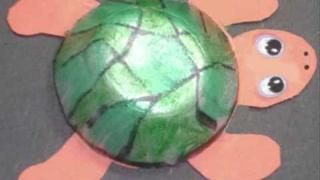 Easy Arts & Crafts Kid's Projects: How to make a cute turtle with recycled egg carton