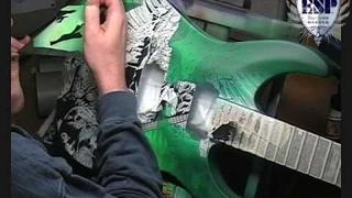 ESP Guitars LTD MHB400 - Comic Art Speed Painting on Guitar