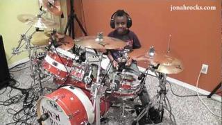 Foo Fighters - Everlong, 7 Year Old Drummer, Jonah Rocks