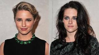 Kristen Stewart & Dianna Agron - Paris Fashion Week Beauties