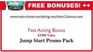 Main Street Marketing Machines 2 Bonus FREE IPAD2 - Fusion
