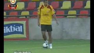 Milan Baroş'un ilk antrenmanı
