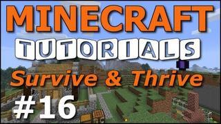 Minecraft Tutorials - E16 Sugar Cane Farm (Survive and Thrive II)