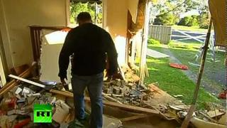 Narrow Escape: Car crashes into bedroom in Australia