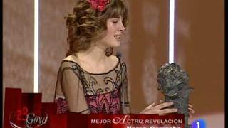 Nerea Camacho recoge premio Goya 2009