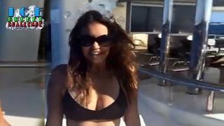 Nina Dobrev Als Ice bucket chalenge