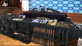 Raw Video: Mexico: Cartel Leader Had Arsenal
