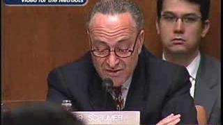 US ATTORNEY PURGE: Sen. Chuck Schumer @ 3.6.07 Hearing