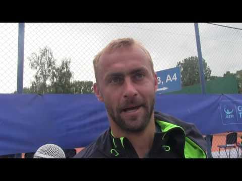 Roman Jebavý po prohře v 1. kole kvalifikace Poprad-Tatry Challenger 2016