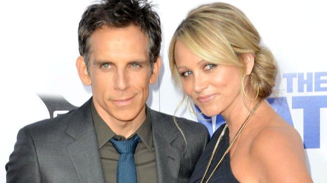 Ben Stiller s manželkou