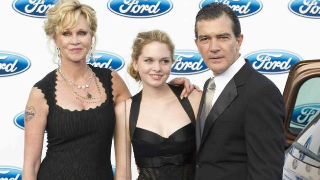 Mellanie Griffith a Antonio Banderas s dcerou