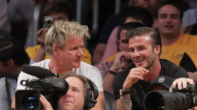 Gordon Ramsay a David Beckham