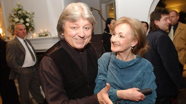 Václav Neckář s manželkou