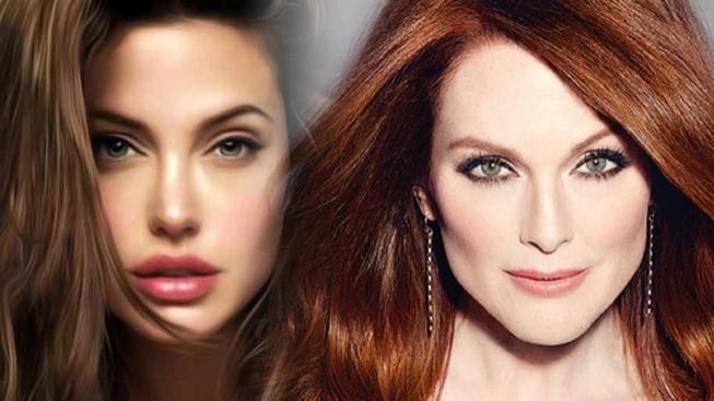 Julianne Moore a Angelina Jolie