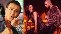 Stallone nepřímo dementoval zvěsti o své smrti, Rihanna dál flirtuje s Drakem
