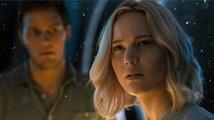 Nepovedené záběry z filmu Pasažéři - vysmátá Jennifer Lawrence a chlípný Laurence Fishburne
