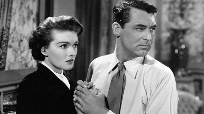 Cary Grant a Paula Raymond, film Crisis