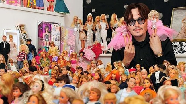 Johnny Depp a barbie