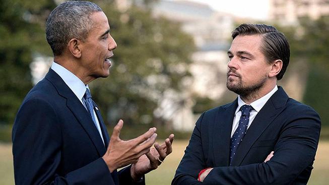 Barack Obama, Leonardo DiCaprio