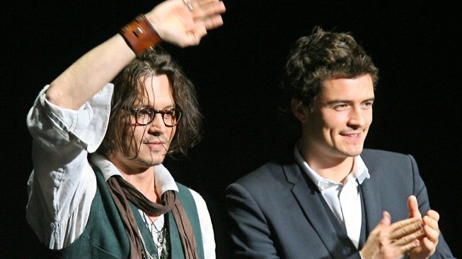 Johnny Depp a Orlando Bloom