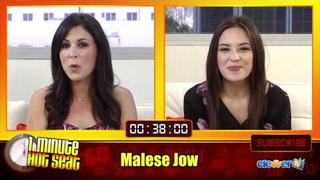 1 Minute Hot Seat - Malese Jow In The Hot Seat