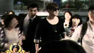 120514 KIM HYUN JOONG fancam - Incheon Itnl' Airport, Arrival from Beijing