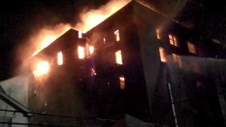 5 ALARM FIRE IN FLATBUSH AVE D AND E 29 ST (BROOKLYN,NY)