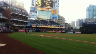 8 year old Dana Lee Ryan sings National Anthem at Petco Park San Diego Padres