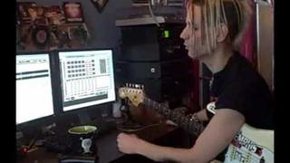 Acey Slade & the Dark Party Studio Report 4: Andee's Guitars