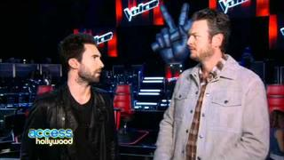 Adam Levine & Blake Shelton Find Humor On 'The Voice' - Access Hollywood