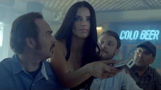 Adriana Lima Brings Futbol to a Sports Bar -- FIFA World Cup.